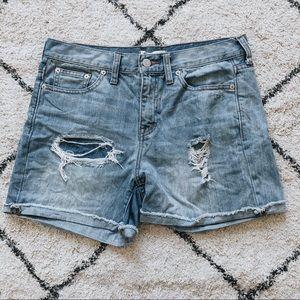 Madewell | Distressed Denim Shorts